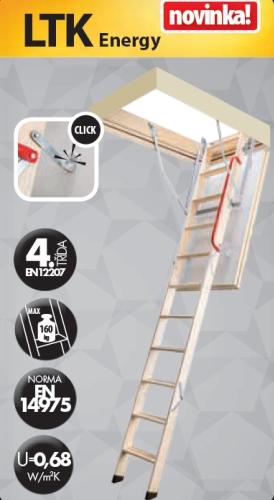 FAKRO LTK Energy 280 70 x 100 cm Skládací půdní schody zateplené