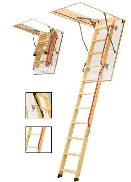 FAKRO LWL LUX - 280 3-dílné 60 x 120 cm půdní schody zateplené
