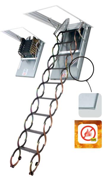 FAKRO LSF 300 50 x 70 cm protipožární stahovací půdní schody